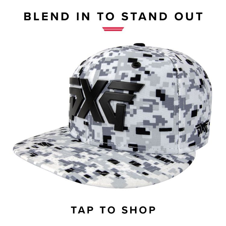 7deffdef4f6 Introducing our new  PXG Snow Camo Lifestyle Cap! Tap to add this limited  run hat to your collection.  PXGTroops  NewEra