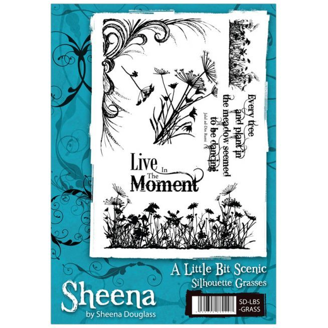 Sheena Douglass A Little Bit Scenic A5 Stamp Set - Silhouette Grasses Stamp