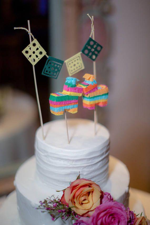 mini donkey pinata cake topper fiesta cake decoration fiesta