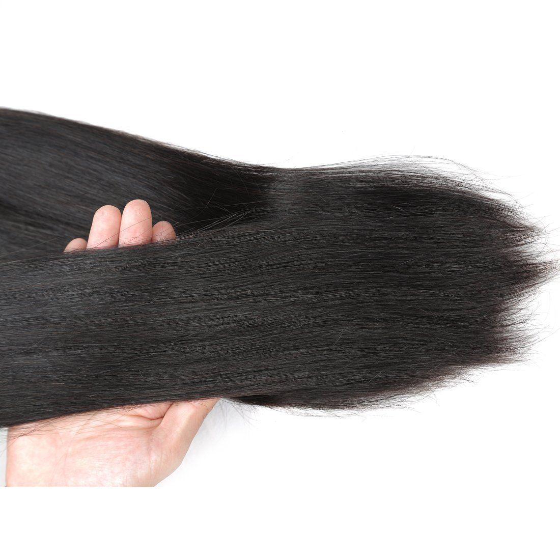 Allove Cheap Peruvian Virgin Hair Straight 3 Bundles Human Hair