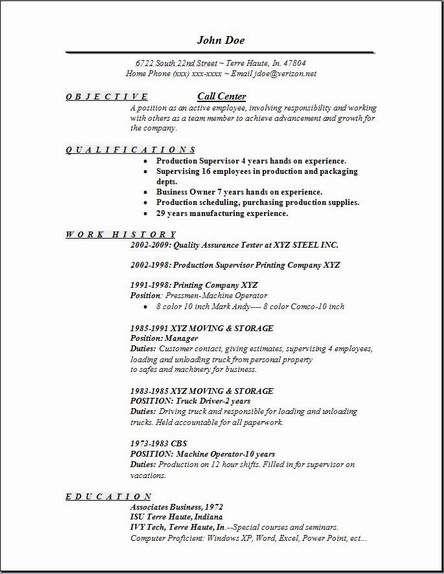 Call Center Resume1 | resume | Pinterest