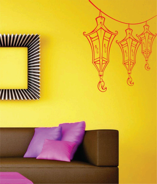 Paper Lantern Wall Decal Sticker Art Graphic | Wall decal sticker ...