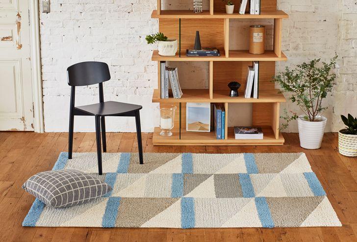 ウールラグ ベリーシニング ブルー   ≪unico≫オンラインショップ:家具/インテリア/ソファ/ラグ等の販売。
