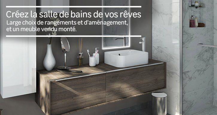 Meuble de salle de bains de 80 à 99, blanc   beige   naturels, Neo - leroy merlin meuble salle de bain neo