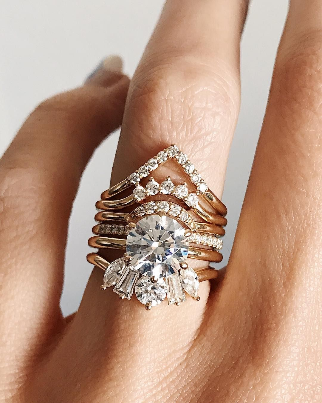 Diamond stacks from marrow fine bridal stacks stacking