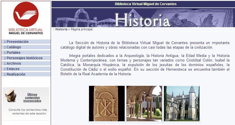 Biblioteca Virtual M.deC - Historia