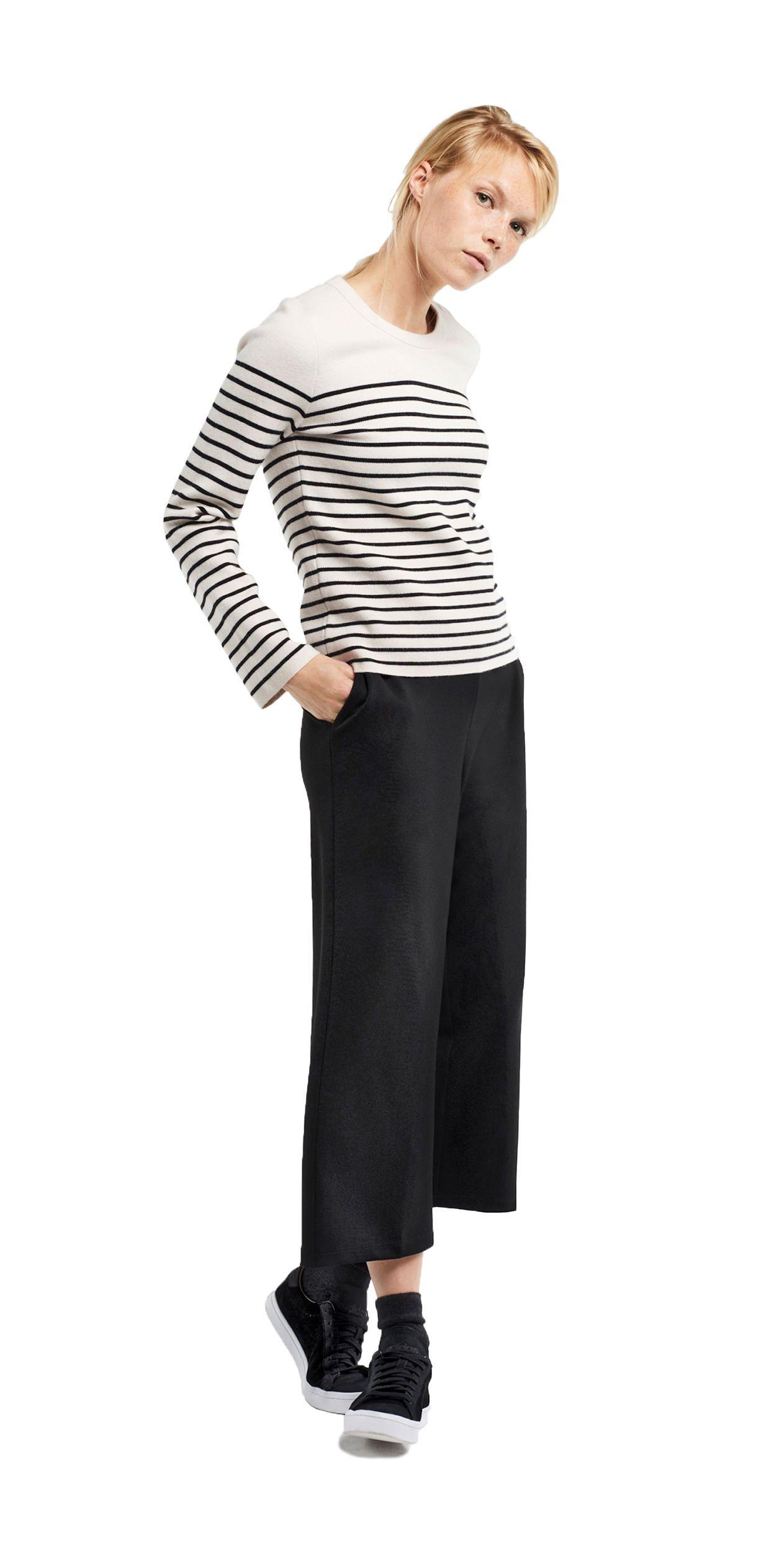 damen outfit komfortabler dandy look von opus fashion gestreifter pullover let 39 s get dressed. Black Bedroom Furniture Sets. Home Design Ideas