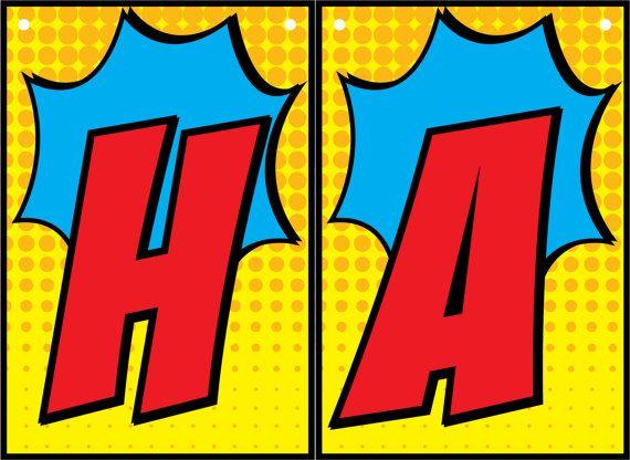 Superhero Banner • Custom Name • Printables
