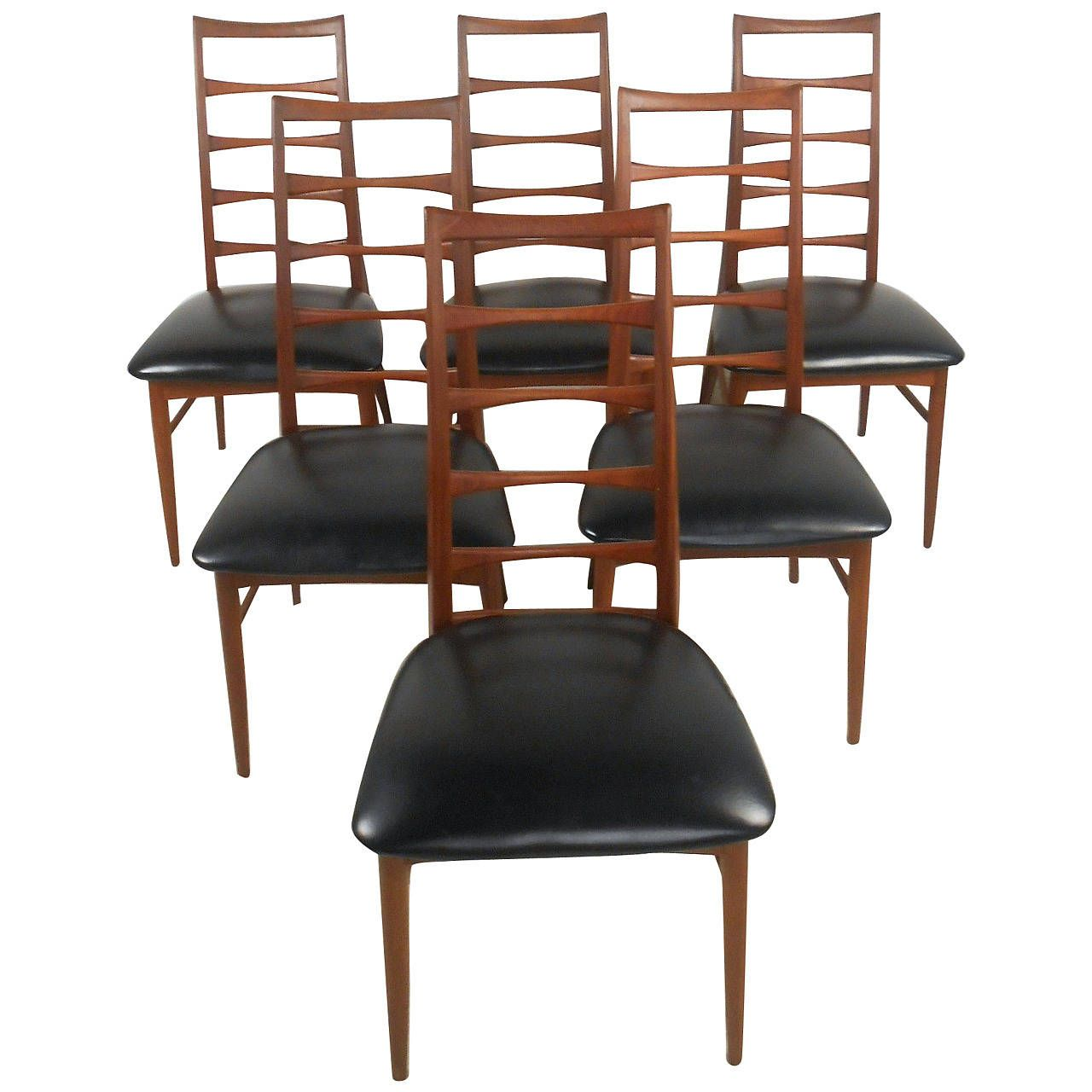 Set Of Niels Koefoed Ladder Back Dining Chairs For Raymor