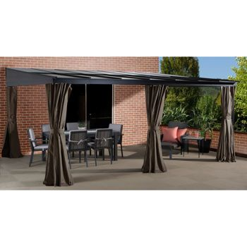 Sojag st barthelemy wall sun shelter 1700 for Abri mural gazebo