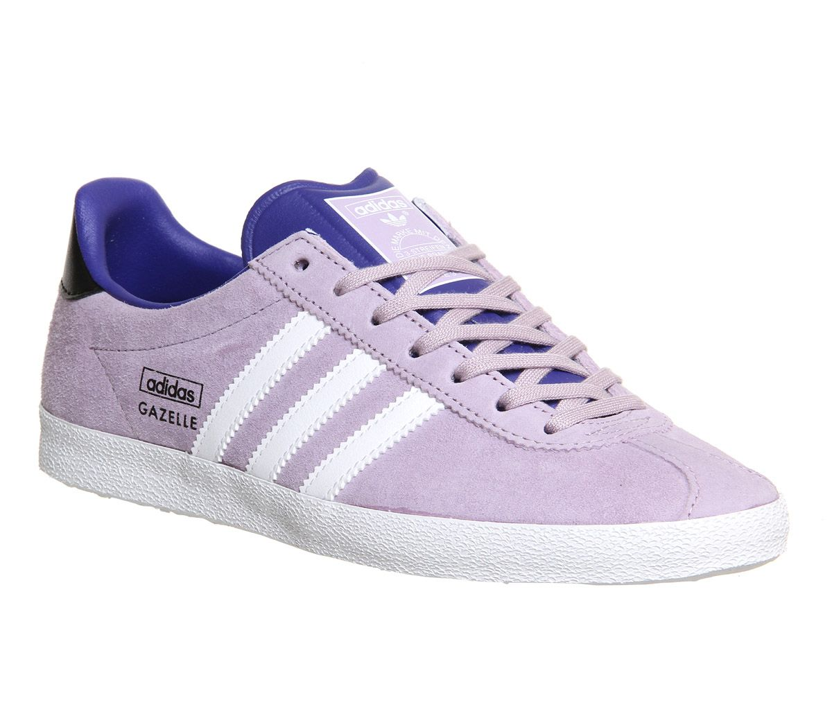 ADIDAS GAZELLE PURPLE Lavender Lace up Athletic Sneakers