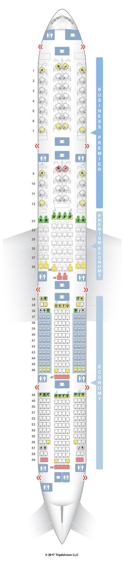 Seatguru Seat Map Air New Zealand Boeing 777 300 773 With