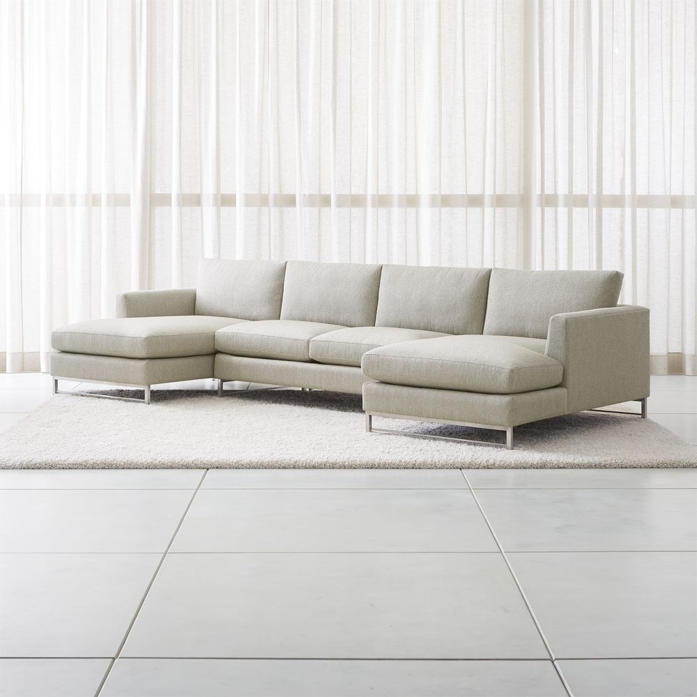 Furniture Sectional Sofas Tyson Sectional Sets With Stainless Steel Legs
