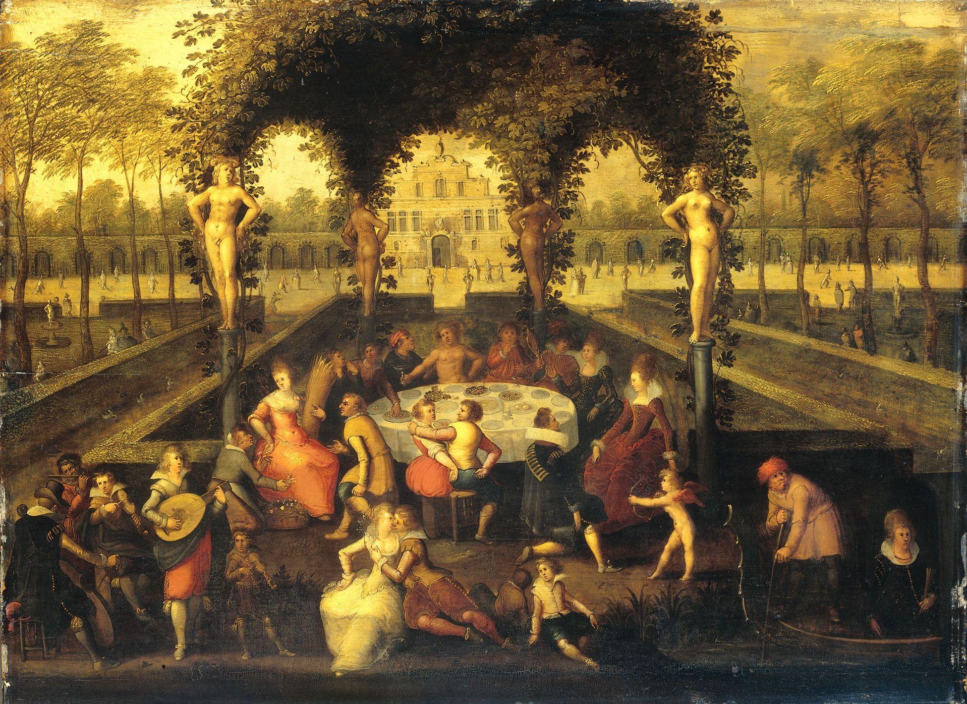 Louis de Caullery : Venus, Bacchus and Ceres with Mortals in a ...