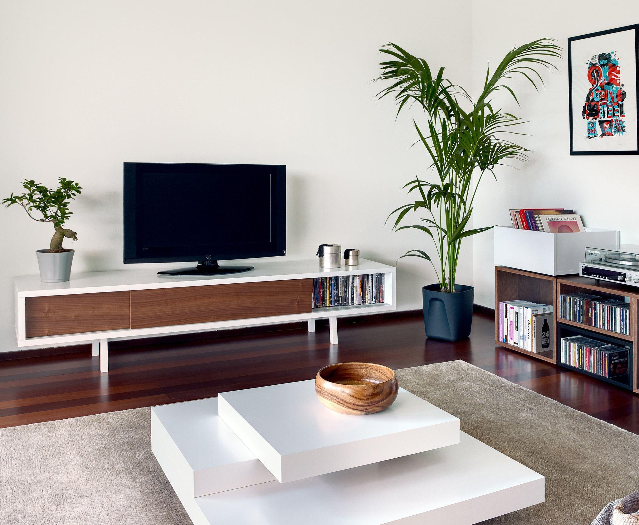 Slide Low Frame Tv Stand