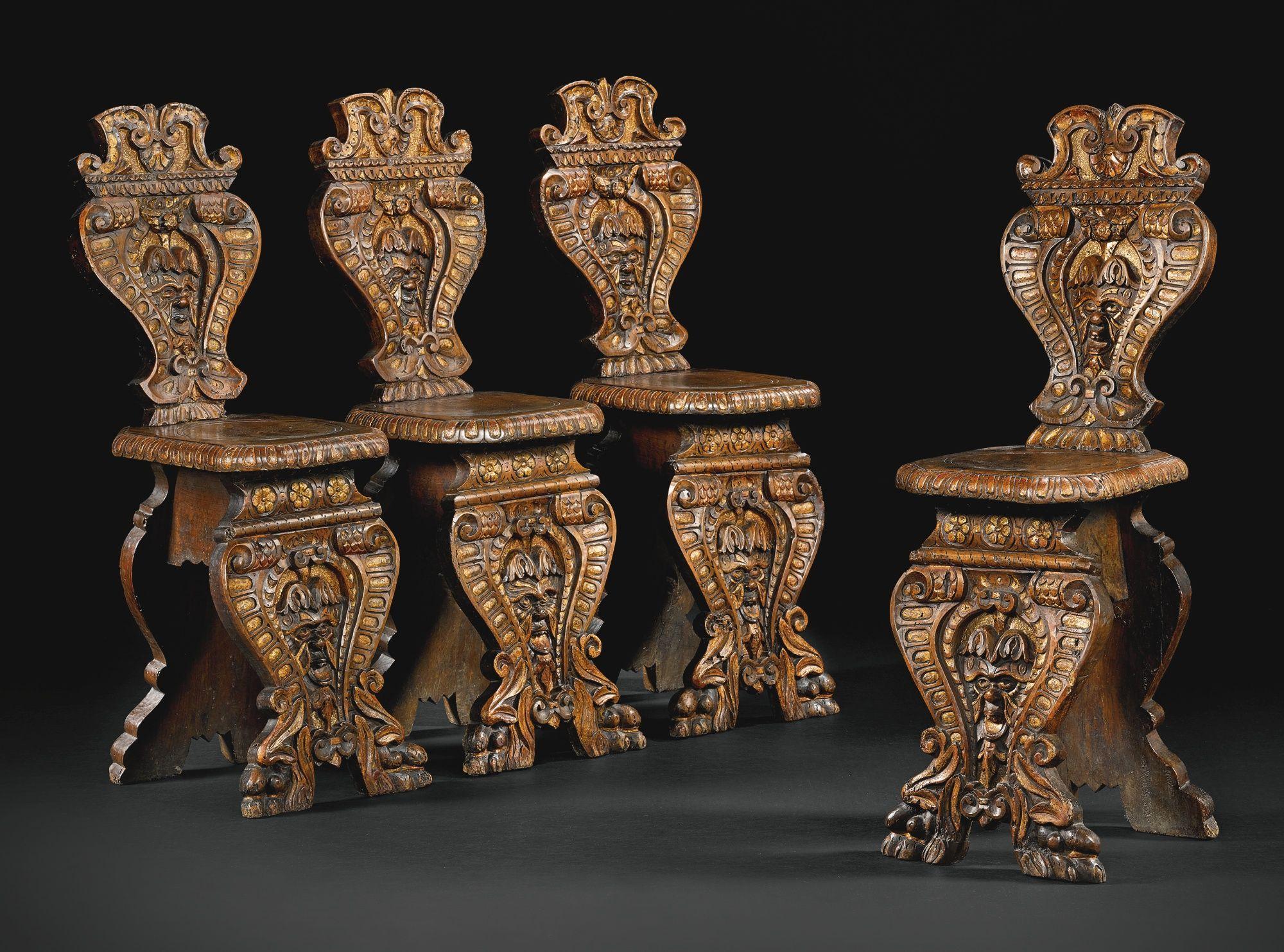 Italian venice 16th century and later four sgabelli estimate 4 000