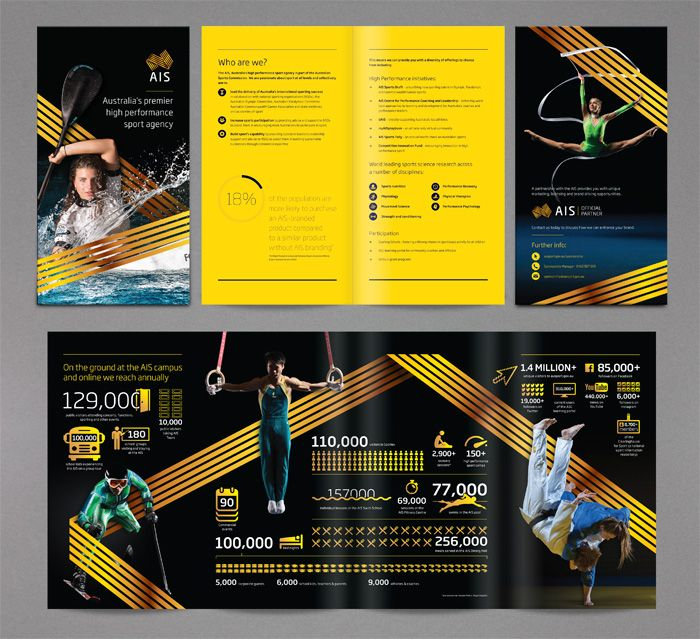 Australian Institute Of Sport Brochure Design Infographics Http