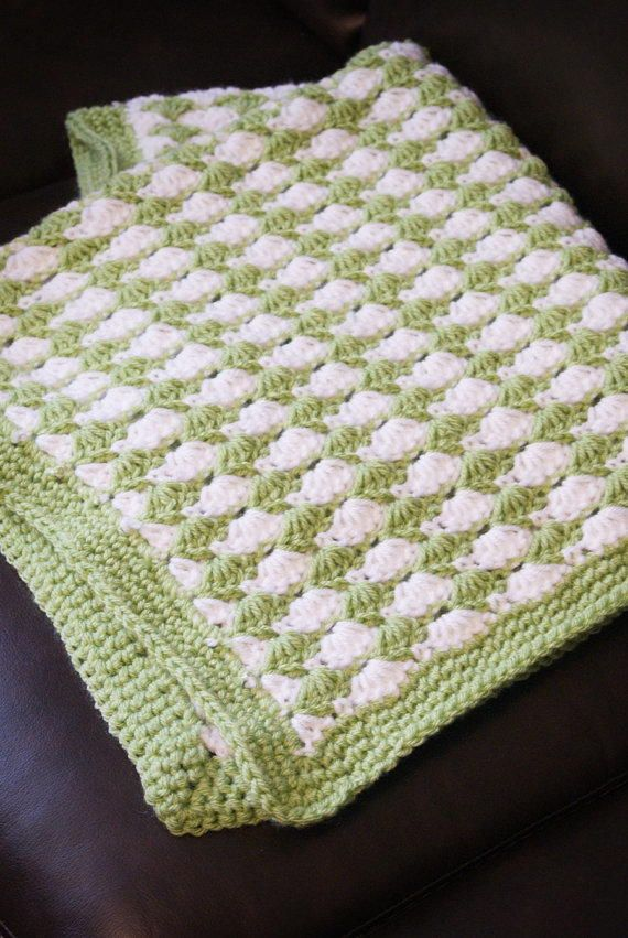Shell Stitch Blanket | CROCHET STITCHES | Pinterest | Manta, Saco ...