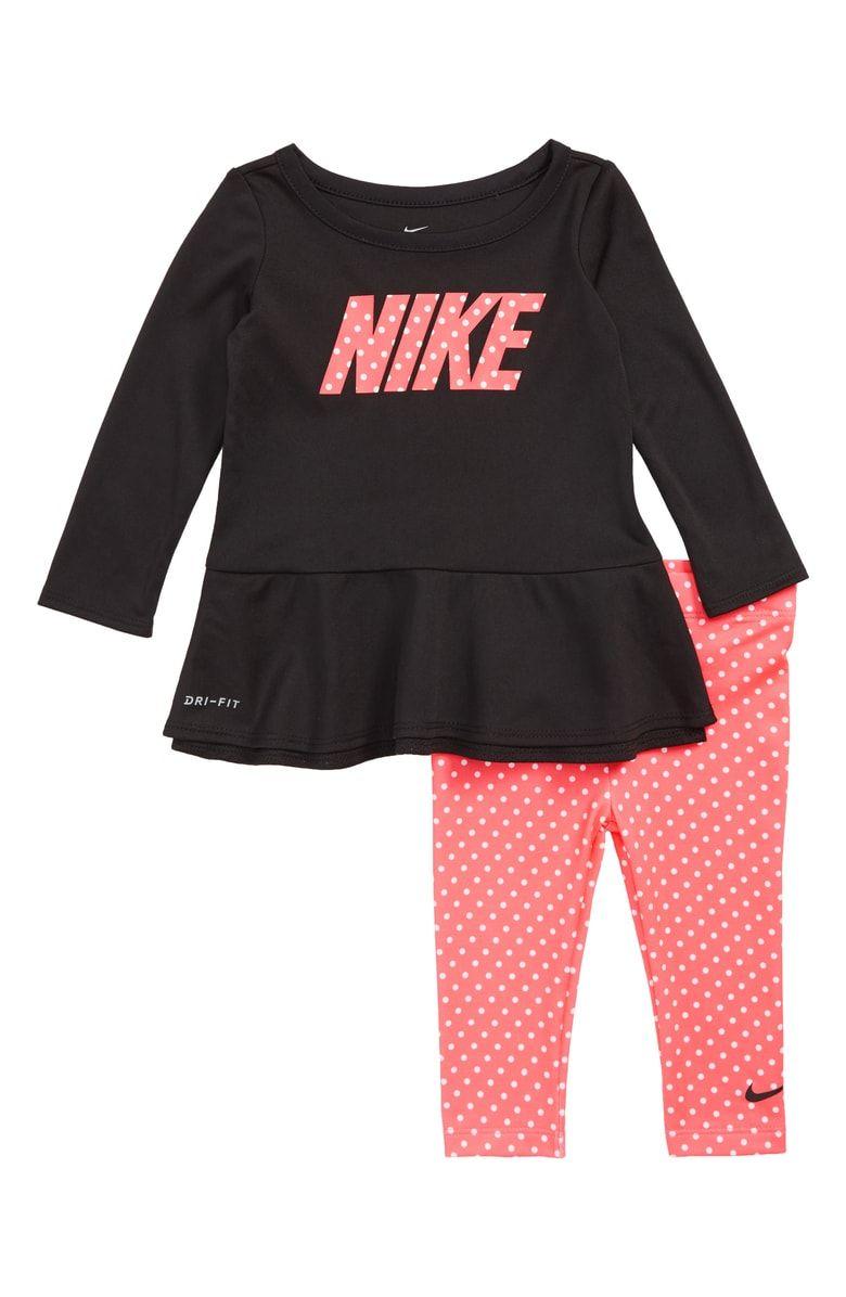 c7ff0bd36f38 Free shipping and returns on Nike Dri-FIT Peplum Tunic  amp  Leggings Set (