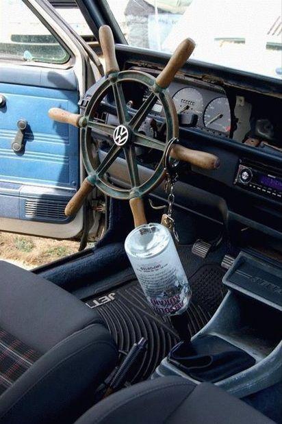 Too ghetto or an awesome car interior?