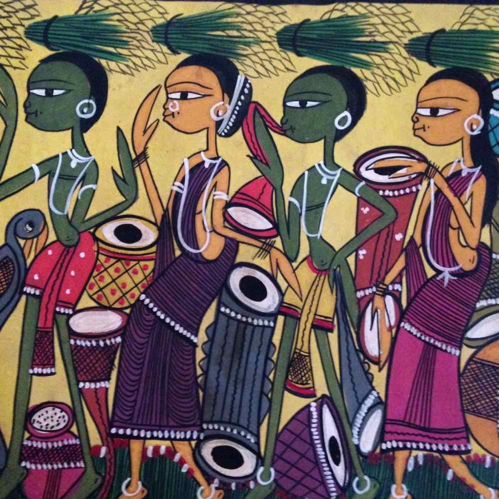 Harvest Celebration Santal Painting | Tribal art drawings, Indian folk art,  Puzzle art