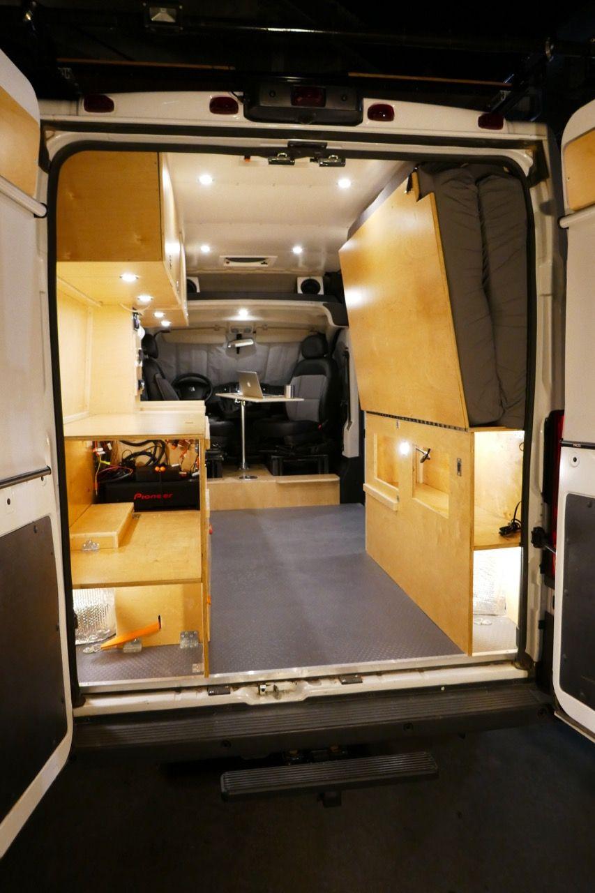 Glampervan upfits your RAM Promaster van into a multi use