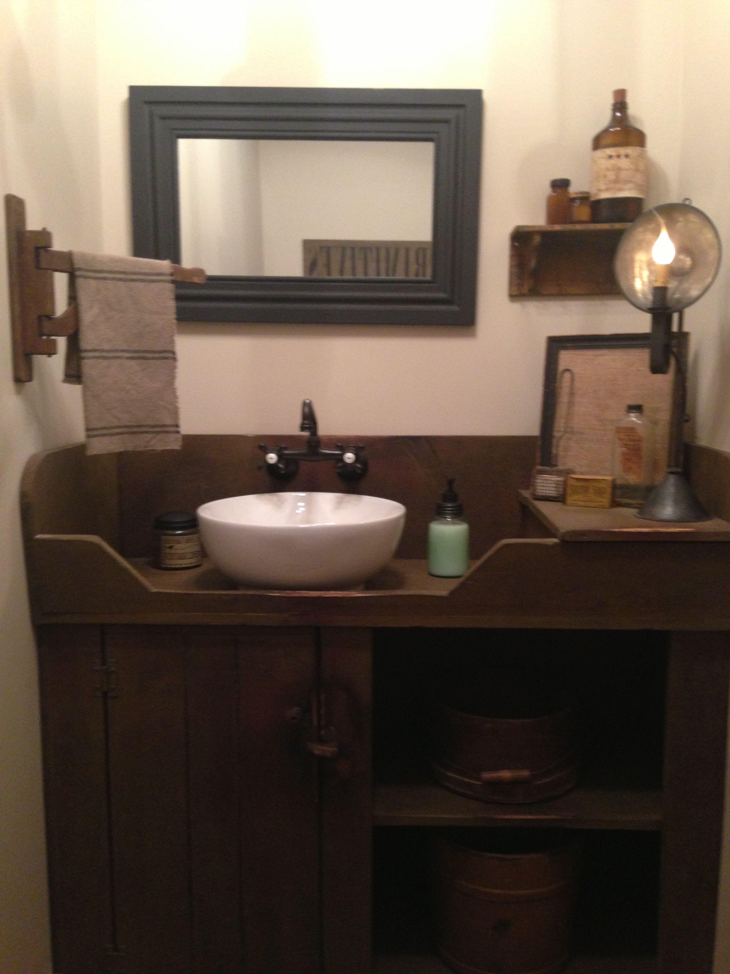 1/2 bath | Bathroom designs images, Primitive country ...