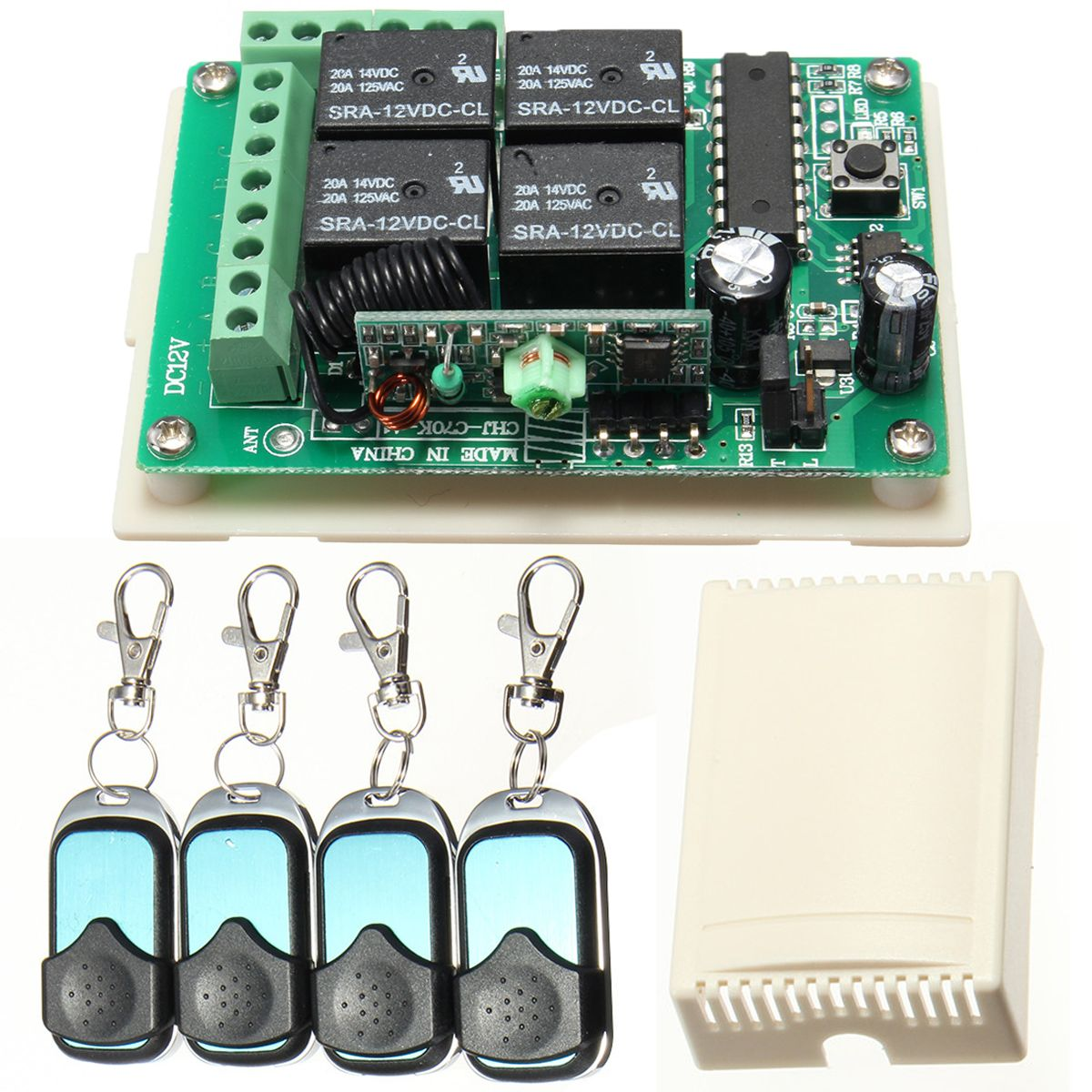 Hcs301 433mhz Rolling Code Remote Controller Wireless Power Supply Relay Receiver Coding Smart Electronics Wireless