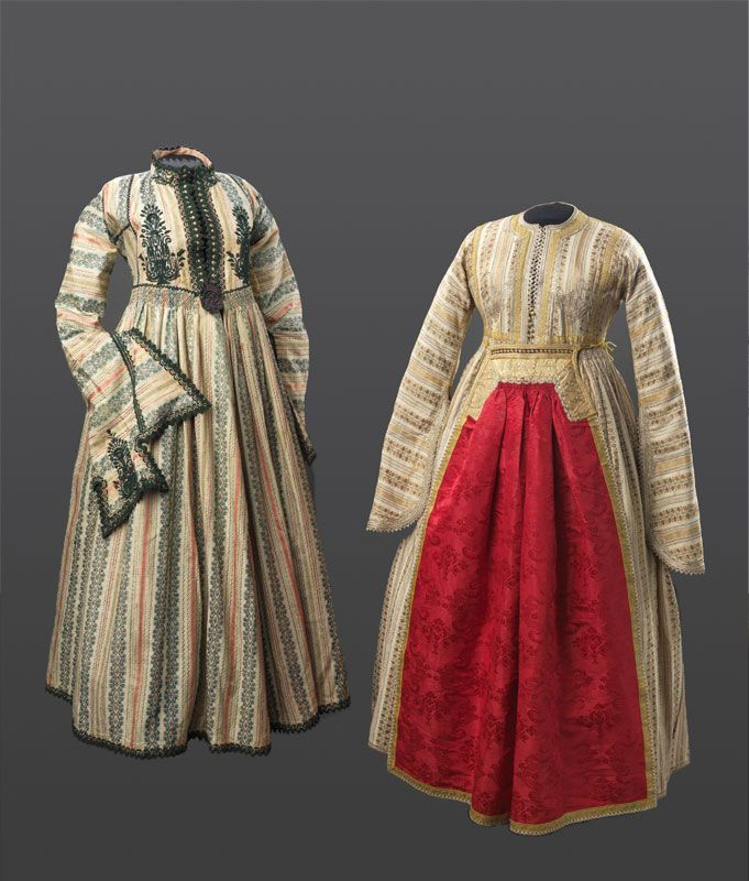 Jewish Women's Dresses from Ioannina, Greece, First Half (?) of the 19th Century. #ioannina-grecce Jewish Women's Dresses from Ioannina, Greece, First Half (?) of the 19th Century. #ioannina-grecce