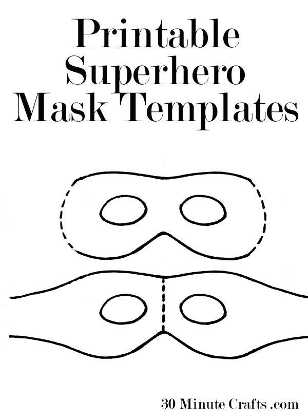 Printable Superhero Mask Templates (perfect for Halloween!) - you ...