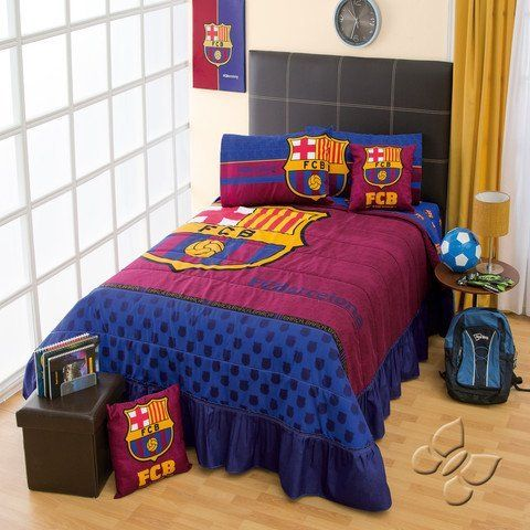 Club Barcelona Beadspread Soccer Comforter Bedding Set FULL,  Http://www.amazon