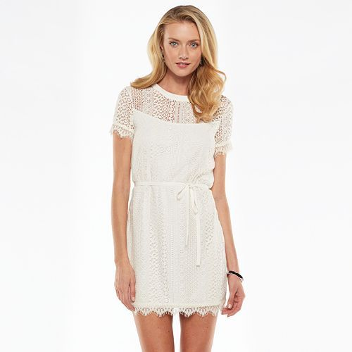 72f063c4f9 LC Lauren Conrad Lace Shift Dress - Women s  Kohls