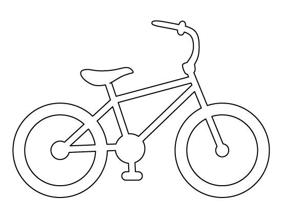 Bike pattern Use the printable outline for crafts, creating - raindrop template
