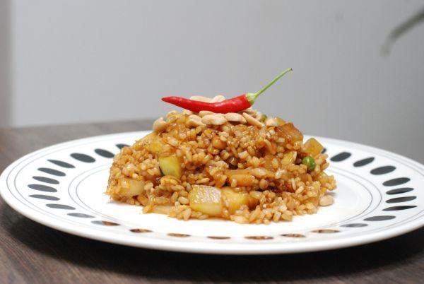 cuketové rizoto s arašidami