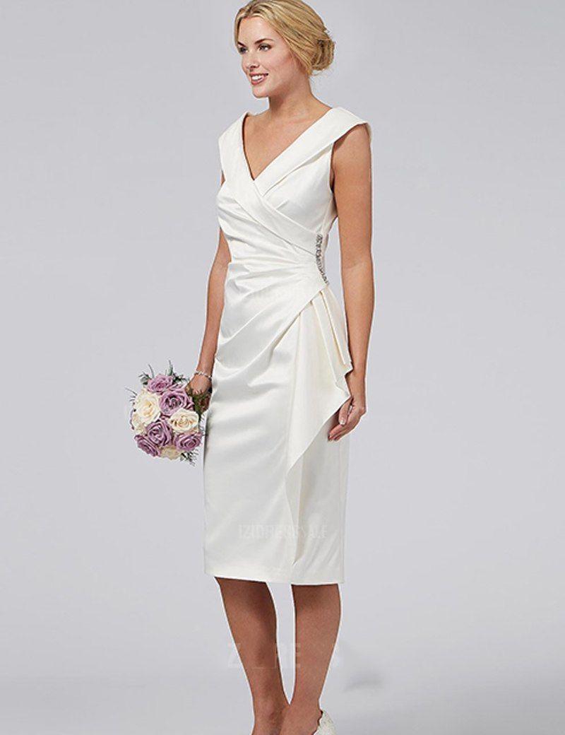 Online Shop ZM016 Sheath Short Vestidos de Noite White Crystal