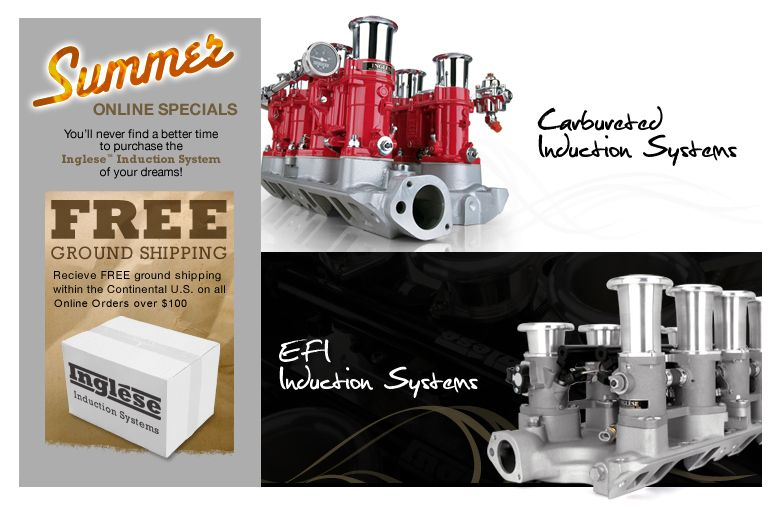 Inglese Induction Systems - Weber Carburetor & EFI Induction Systems