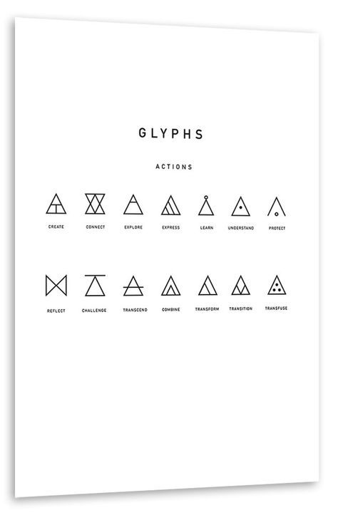 Hipster Triangles Poster Geometrisches Tattoo