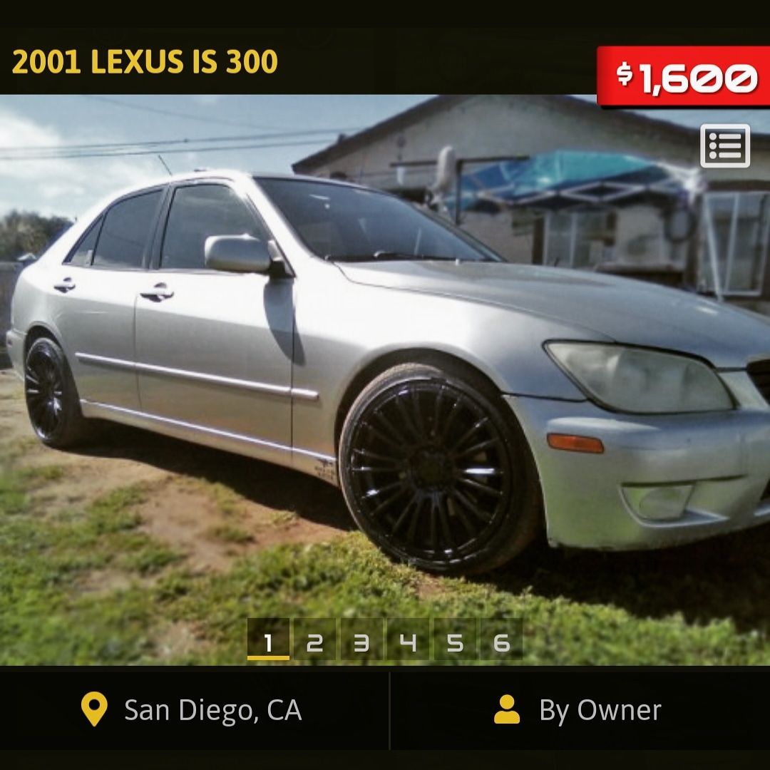 For Sale By Owner 2001 Lexus Is300 Under 2000 In San Diego Ca