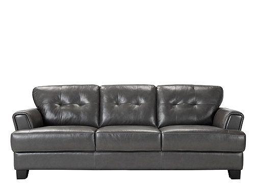 Semi Aniline Leather Sofa Benson By Raymour Flanigan