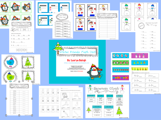winter math activities for kinder and 1st grade! | HOMESCHOOL MASTER ...