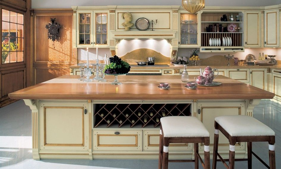 Tremendous Country French Kitchens Designs with Maple Butcher Block