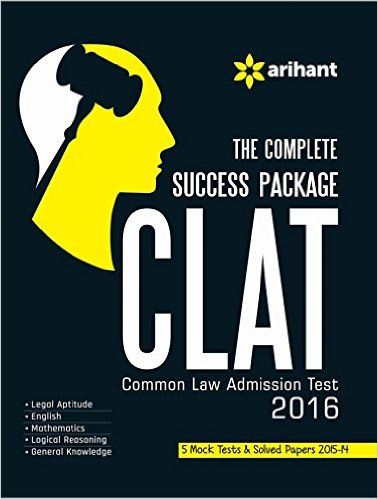 Arihant Clat 2016 The Complete Success Package Book Cover Design Success Common Law