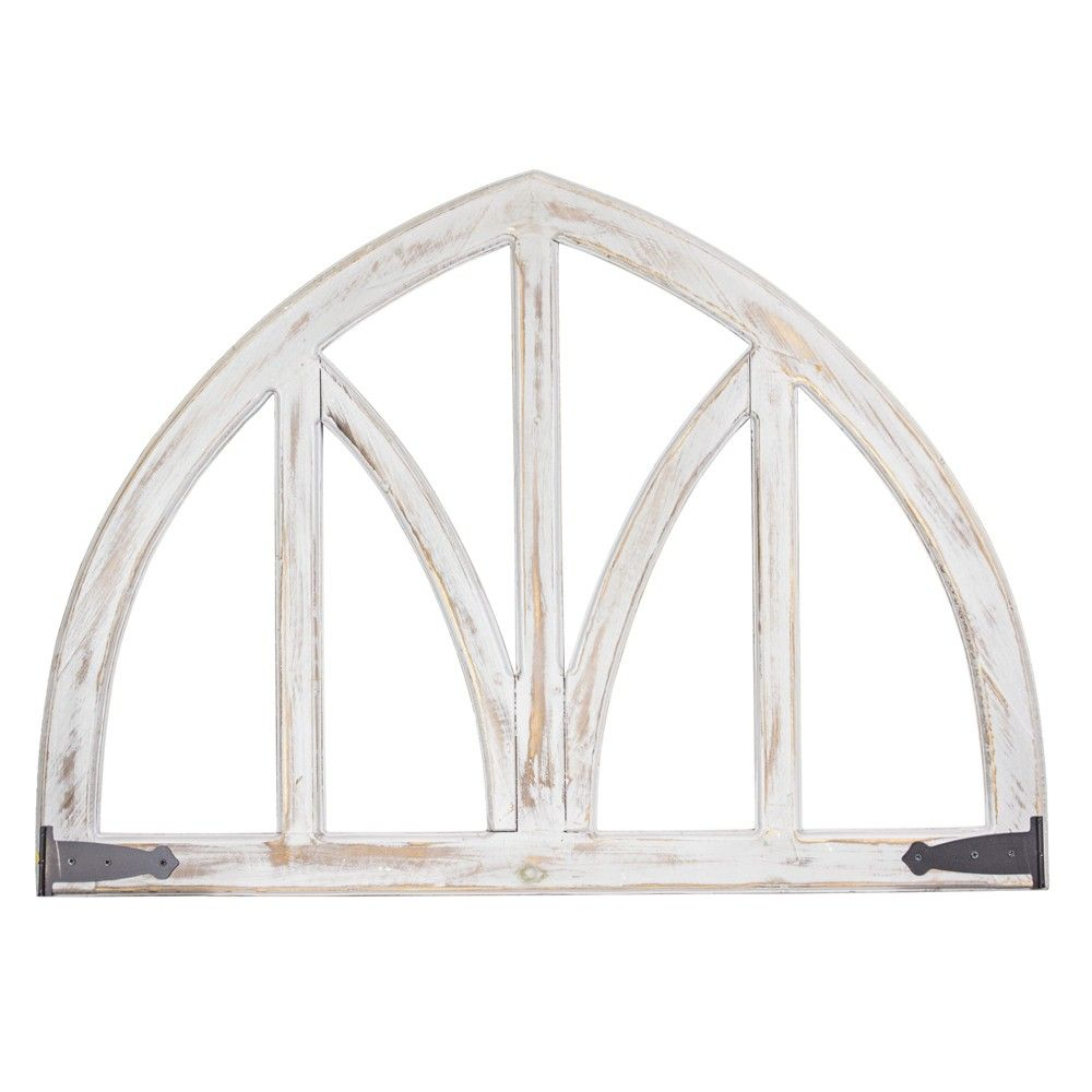 Arched Metal And Wood Wall Decor White E2 Concepts Adult Unisex