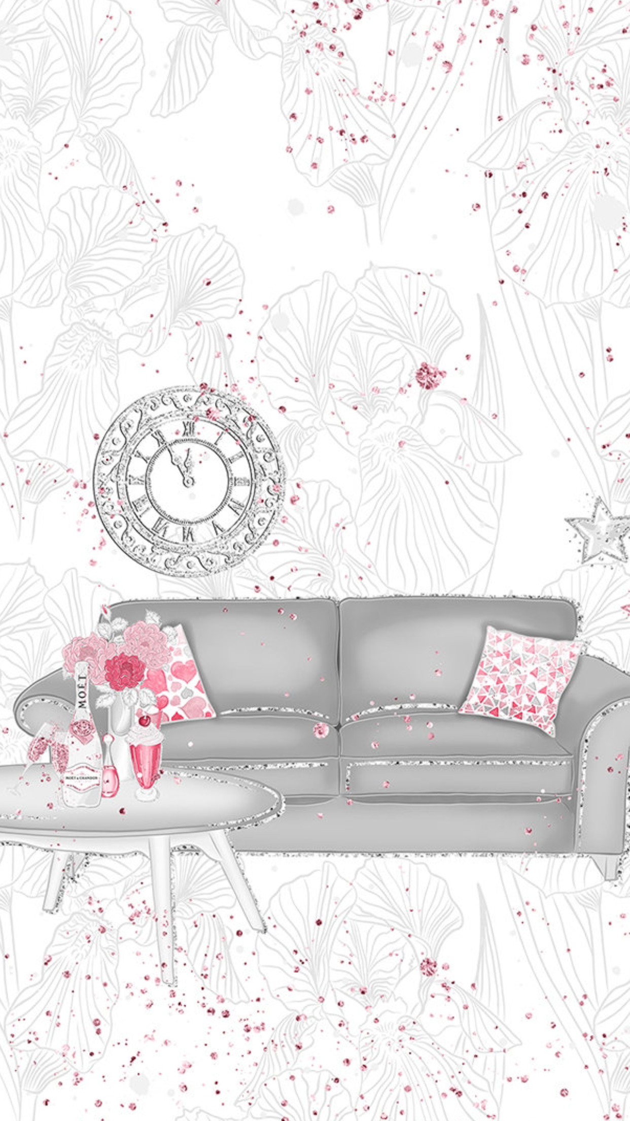 Girly Background Room Valentines Wallpaper Classy Wallpaper Holiday Wallpaper