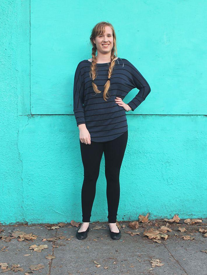 Market & Spruce Corinna Striped Doman Top, $48 MTLA Kristin Fleece Legging, $38 Stitch Fix December 2015