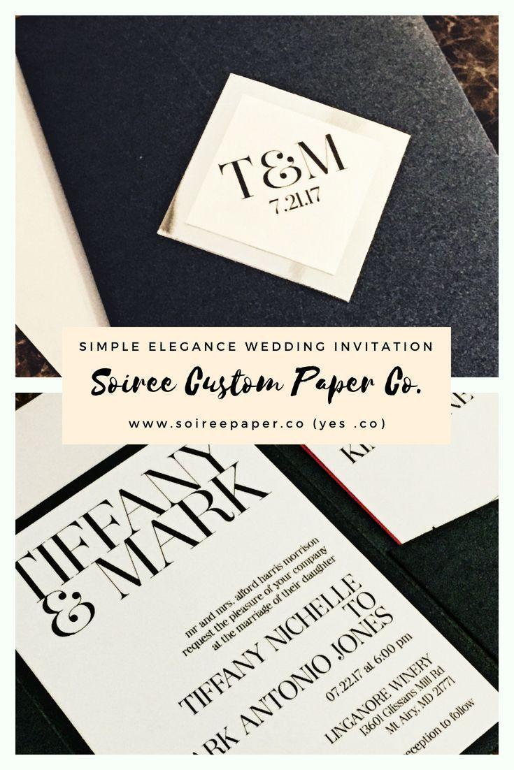 Elegant Wedding Invitation - Modern Wedding Invitation - TIFFANY ...