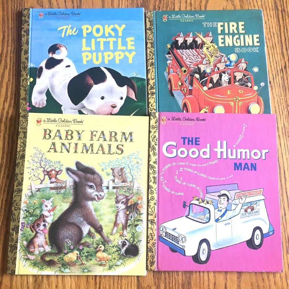 Smoke Free Home*** Lot Of 4 Collectable Little Golden