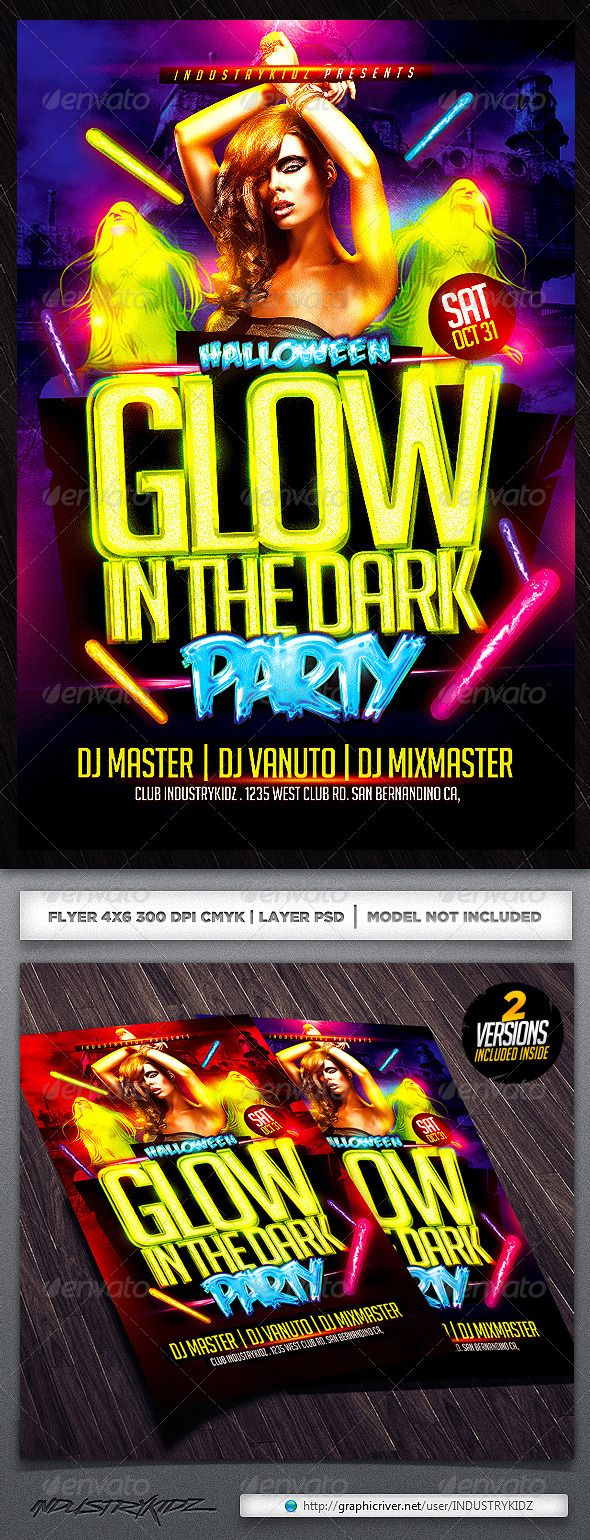 Glow In The Dark Flyer (styleWish studio) Tags: city party urban ...
