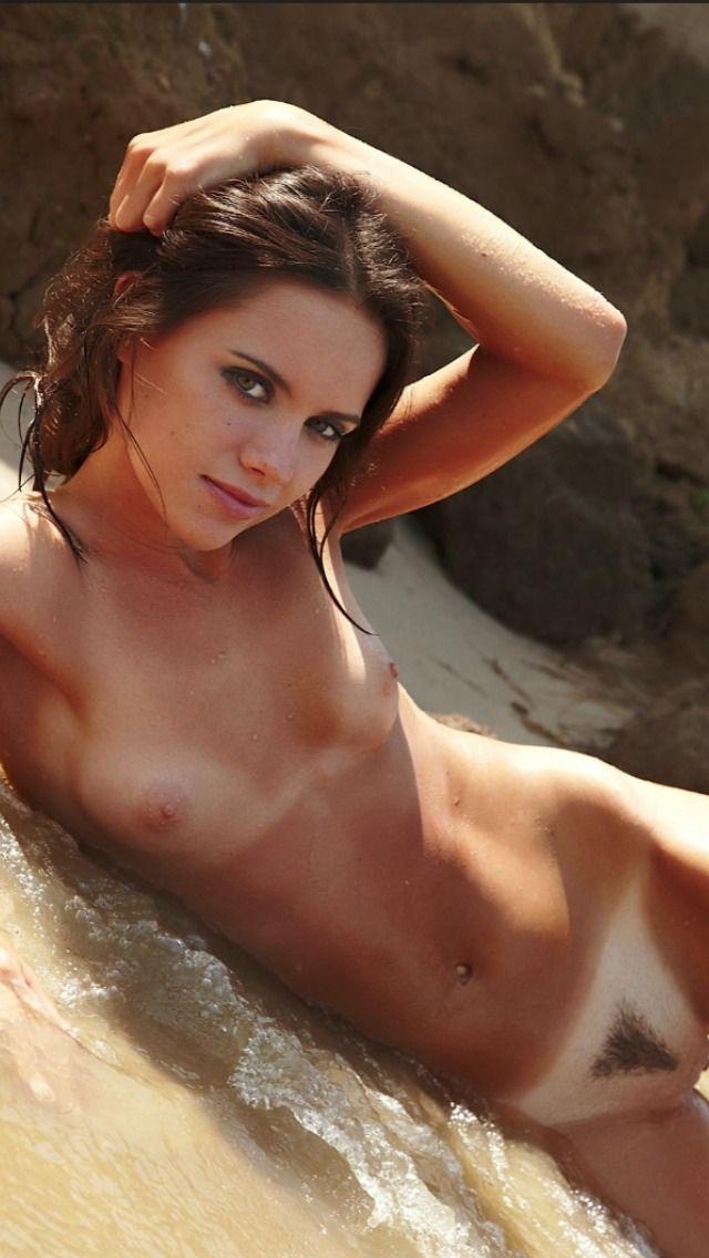 Naked woman with beach ball kerala