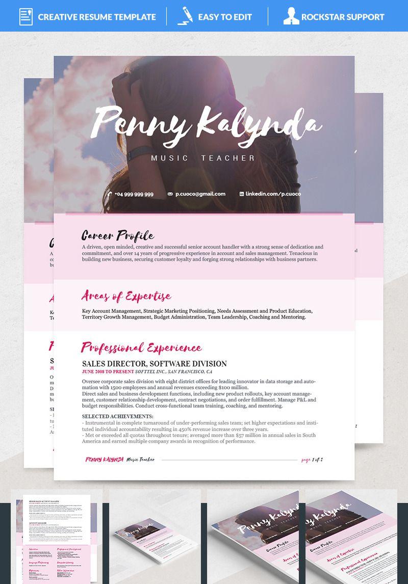 Kalynda Resume Template 69140 in 2020 Resume template
